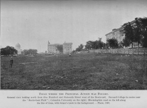 FIELD where principal action took place -- Grant's Tomb on left