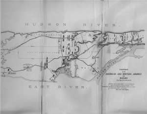 MAP of the Battle of Harlem Heights