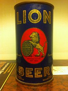 Lion Beer Can