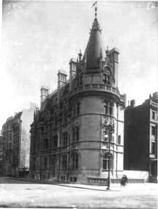 "Mrs. Schmid's ""castle"" on Fifth Avenue at 62nd Street"