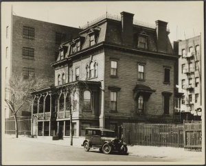 Houses near the Lion on West 108th. Photo from the Museum of the City of New York
