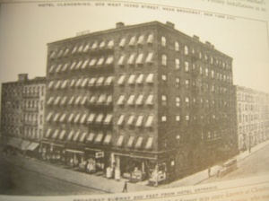 The Clendening Hotel at Amsterdam Avenue and West 103rd Street