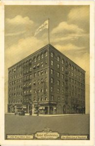 Postcard view of the Clendening Hotel