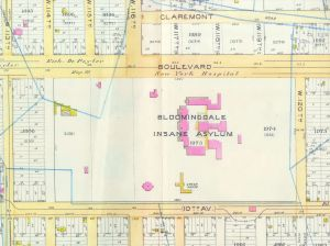Map of The Bloomingdale Insane Asylum in 1891