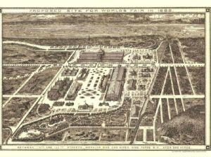Plan for the 1883 World's Fair site in Morningside Heights