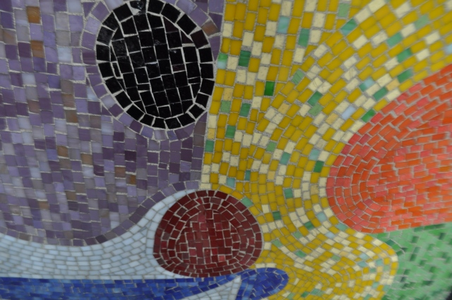 Mosaic detail Broadway at 104 Street, photo by Pam Tice